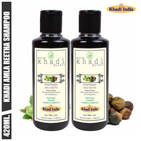 Leafveda Khadi Amla & Reetha Herbal Shampoo 210 ml (Pack of 2)