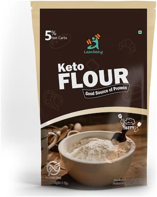 Leanbeing Keto Flour Best Low Carb Flour   1 g Net Carb Per Chapati   Gluten Free 1 kg ( Pack of 1 )