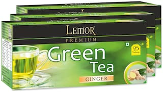 Lemor Ginger Green Tea Bag (3 Pack of 25 pc)