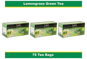 Lemor Lemon Grass Green Tea Bag with Natural ingredients and No added preservative best for weight loss | Aids in detox| Rich in antioxidant (3 x 25 Tea Bags)