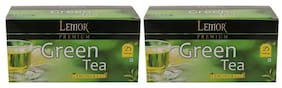 Lemor Lemon Grass Green Tea Bag with Natural ingredients and No added preservative best for weight loss | Aids in detox| Rich in antioxidant (2 x 25 Tea Bags)
