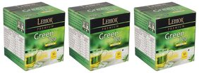 Lemor Lemon Green Tea Bag with Natural ingredients and No added preservative best for weight loss | Aids in detox| Rich in antioxidant (3 x 10 Tea Bags)