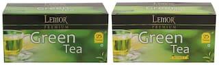 Lemor Premium Green Tea with Honey Green Tea - Pack of 2 (Each pack contains 25 Tea Bags)