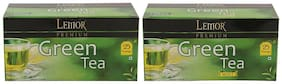 Lemor Premium Green Tea with Mint Green Tea - Pack of 2 (Each pack contains 25 Tea Bags)