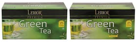 Lemor Premium Green Tea with Tulsi Green Tea - Pack of 2 (Each pack contains 25 Tea Bags)