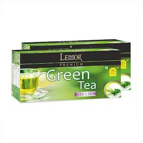 Lemor Tulsi Green Tea 25 Tea Bags - Pack Of 2
