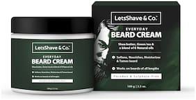LetsShave Everyday Beard Cream for men, softens & moisturizes for easy maintenance, 100 g