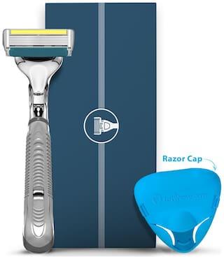 LetsShave Dorco Pace 6 Plus Manual Shaving Razor for Men,Trial Kit (1 Razor Handle,1 Blade Cartridge with Free 1 Razor Cap)
