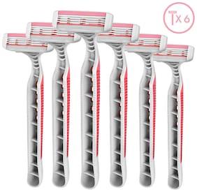 LetsShave Evior 3 Plus disposable razor- Pack of 6