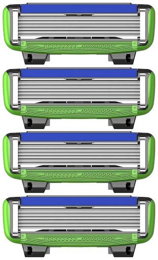 LetsShave Pro 6 Sensitive Shaving Cartridges (Pack of 4)