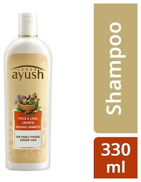 Lever Ayush Shampoo - Long & Strong Shikakai  330 ml