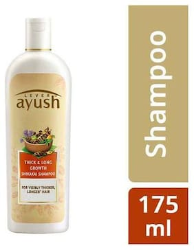 Lever Ayush Shampoo - Long & Strong Shikakai  175 ml