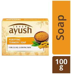 Lever Ayush Purifying Turmeric Soap 100 gm
