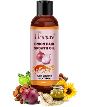 Licuqure Onion Hair Growth Oil With Blend Of Essential Oils For Hair Fall & Dandruff For Men & Women Hair Oil (60 ml)(Pack of 1)