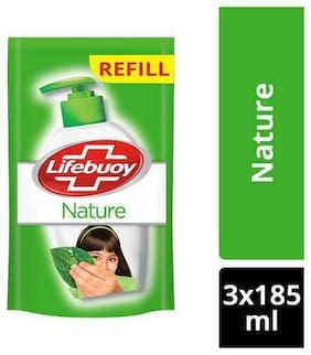 Lifebuoy Hand Wash - Nature, Germ Protection 185 ml (Pack of 3)