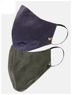 Linen Club 3 layered Reusable Outdoor Protection Mask-Pack of 2