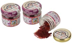 Lion Brand 100 % Pure Kashmiri Saffron 1g (Pack of 3)