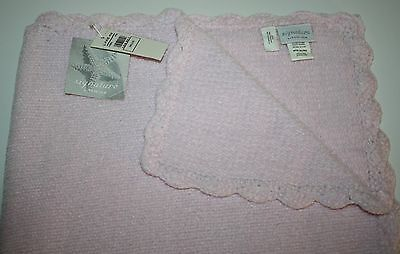 """LITTLE ME 100/% Cotton TAG-ALONG  27 X 27 PINK /""""POODLE/"""" Blanket  NWT"""