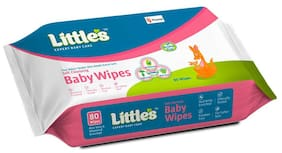 Little's Soft Cleansing Baby Wipes -80 Wipes(Pack of 1)