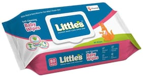 Little's Soft Cleansing Baby Wipes Lid Pack 80 Wipes (Pack of 1)