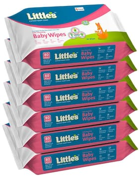 Little's Soft Cleansing Baby Wipes -80 Wipes (Pack of 6)