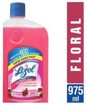 Lizol Disinfectant Surface Cleaner - Floral 975 ml