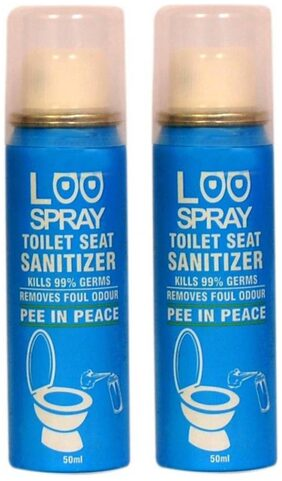 Loo Spray Toilet Seat Sanitizer Spray Can 50ml (Pack of 2)