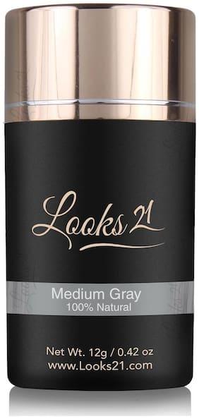 Looks21 Hair Loss Concealer (Medium Grey 12 gm)
