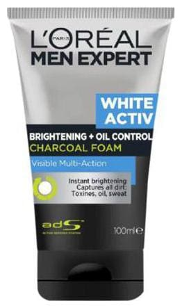 Loreal Paris Men Expert White Activ Charcoal Brightening Foam Facewash  100 Ml