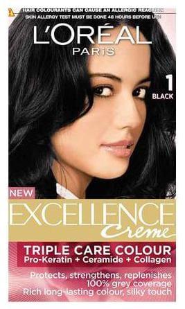 Loreal Paris Loreal Paris Excellence Creme Hair Colour Black 01 72 ml + 100 g