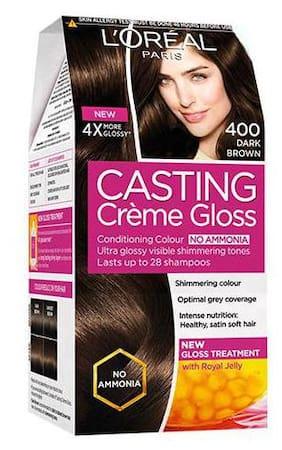 Loreal Paris Casting Creme Gloss - Dark Brown 400 159.5 gm