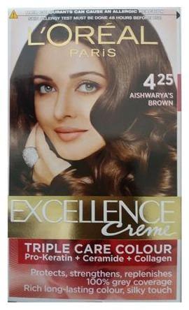Loreal Paris Excellence Creme Hair colour, Brown 425 (72 ml + 100 g)