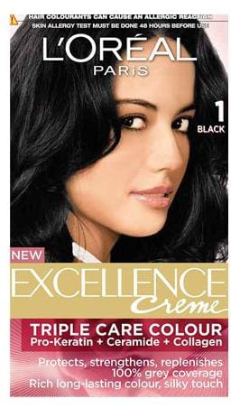 Loreal Paris Loreal Paris Excellence Creme Hair Colour Black 01 72 ml + 100 gm