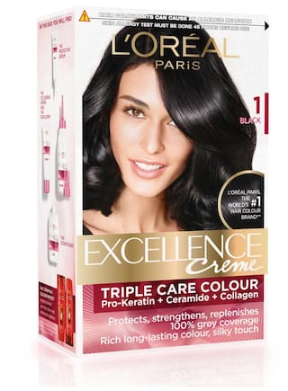L'Oreal Paris Excellence Cream Hair Color Black - 1