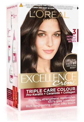 L'Oreal Paris Excellence Cream Hair Color Natural Darkest Brown - 3