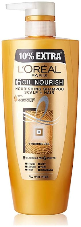 L'Oreal Paris Hair Expertise 6 Oil Nourish Shampoo 640 Ml + 10% Extra