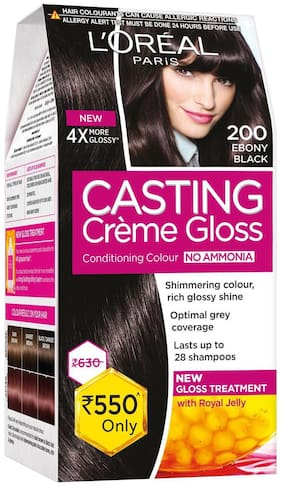 L'Oreal Paris Casting Creme Gloss Hair Color - Ebony Black - 200