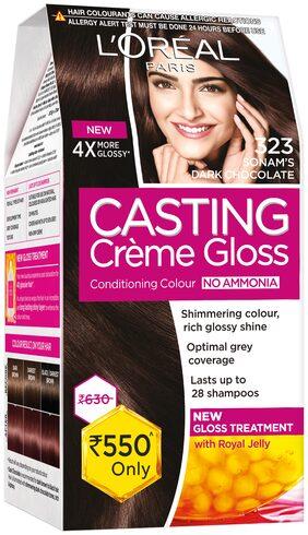 Loreal Paris Casting Creme Gloss Hair Color-Sonam Dark Chocolate-323