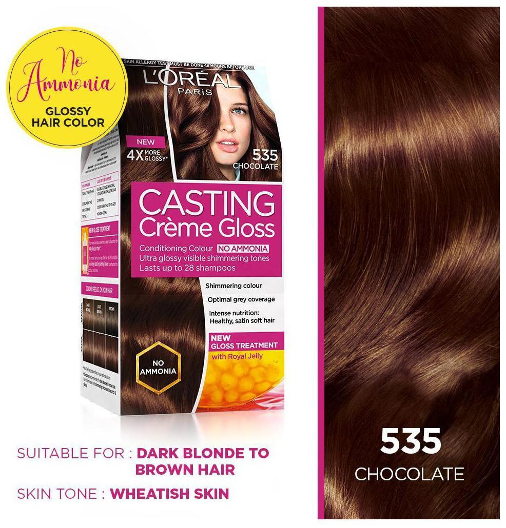 535 chocolate casting creme gloss