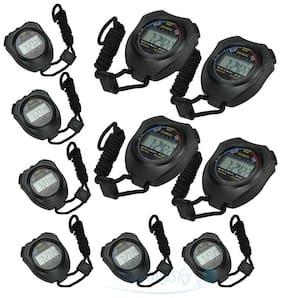 Lot 10pcs NEW Handheld Digital LCD Sports Stopwatch Counter Timer Chronograph