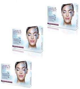 Lotus Herbals Radiant Platinum Cellular Anti Ageing Facial Kit( Pack of 3 )