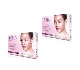 Lotus Herbals Radiant Pearl Cellular Lightening Facial Kit ( Pack of 2)