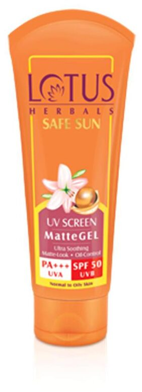 Lotus herbals Pa+++ Uva Spf 50 Uvb Matte Gel 50 g(Pack of 2)