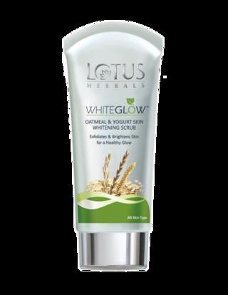 Lotus Herbals White Glow Oatmeal & Yogurt Skin Whitening Scrub 100 G