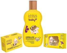 Lotus Herbals Baby+ Combo Pack (Oil 200 ml, Soap 75 g & Wipes 24N)