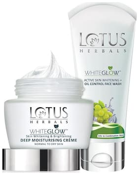 Lotus Herbals Nourishment Kit (Deep Moisturising Cream 60 g + Oil Control Face Wash 50 g)