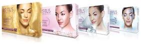 Lotus Herbals Radiant Cellular Glow Facial Kits Combo ( Gold + Pearl + Diamond + Platinum)