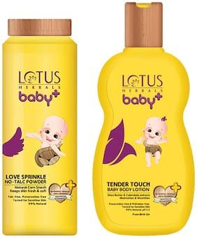 Lotus Herbals Baby+ Combo Pack (Powder 100 g & Lotion 200 ml)