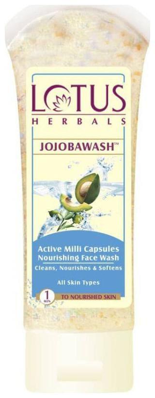 Lotus Herbals Jojobawash Active Milli Capsules Nourishing Face Wash 80G