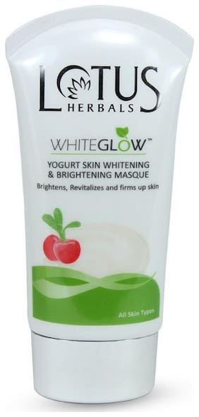 Lotus Herbals White Glow Yogurt Skin Whitening & Fairness/Lightening Masque 80 gm